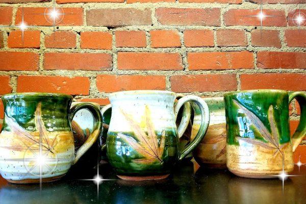 Hand made hemp mugs from a Tennessee hemp farmer