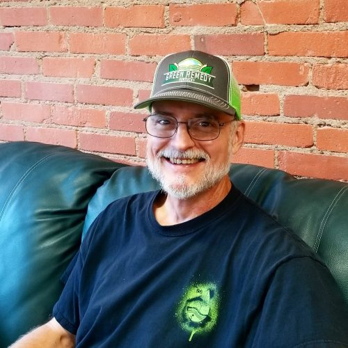 Vance is loving his Green Remedy shwag!